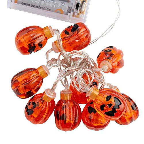 Factory Direct Craft LED Jack-O-Lantern Garland Lights | 3 Pieces