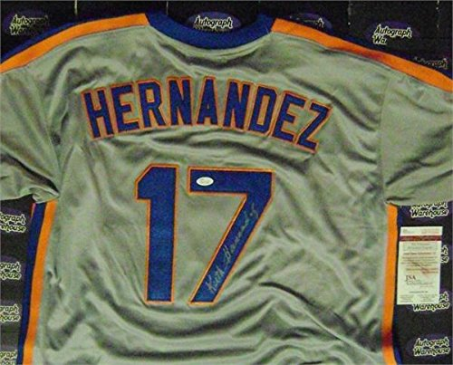 (Keith Hernandez autographed Jersey (New York Mets 1986 baseball World Series Champion) Road Size XL JSA Authentication Certification)