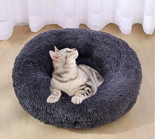C/ómoda y Lavable Cama para Mascotas Cama Perro Gato Grande Peque/ño Cama Mascota Redonda Felpa Sofa Suave Cachorro Animales Dom/ésticos Invierno