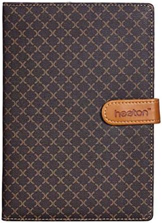 STOBOK Notebook PU Lederen 25K Memo Kladblok met Hard Cover Journal Reisdagboek Business Executive Kladblokken Bruin