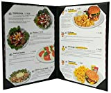 5 Pcs of Restaurant Menu Covers Holders 8.5'' X 11'' Inches, Double View,Sold By Case,With Clear PVC sheets for Paper Protection