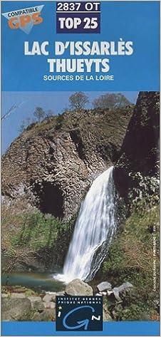 En ligne Carte de randonnée IGN 2837 OT : Lac Issarlès - Thueyts - Sources de la Loire pdf