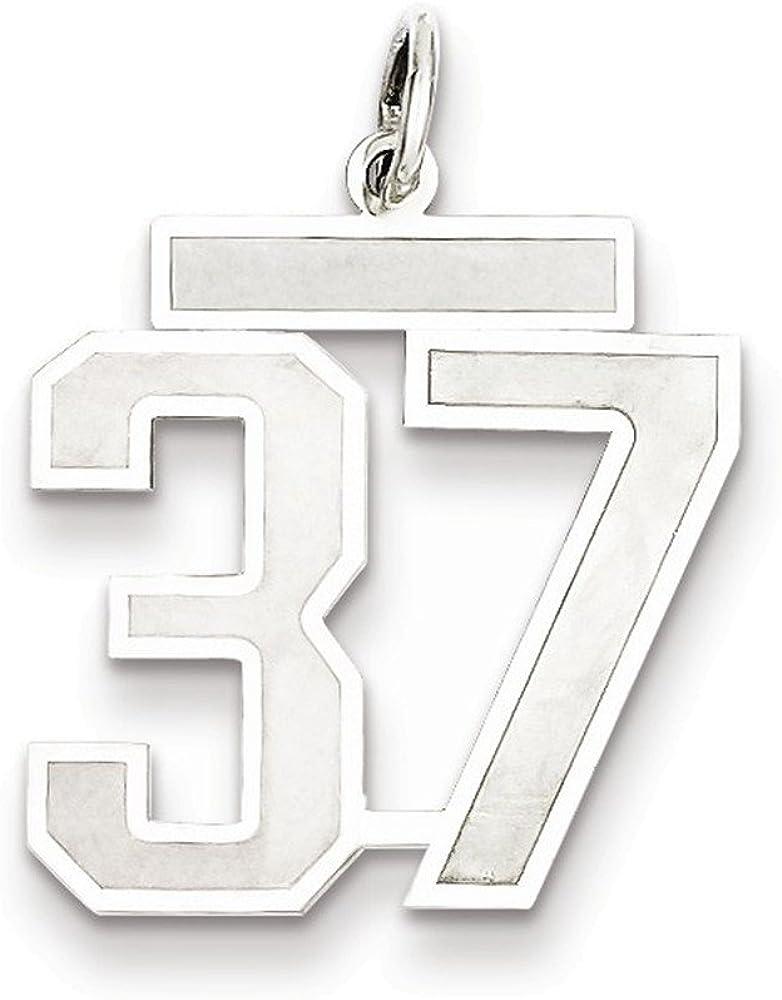 Jewelry Adviser Sterling Silver Medium Satin Number 37