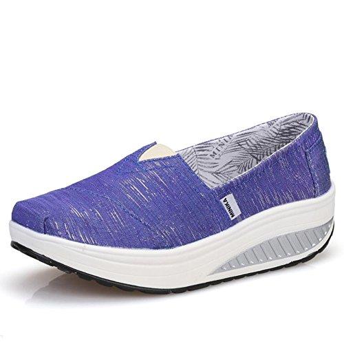 ons farge Flate 36 Xue Atletisk Kjøre C Sko Joggesko Størrelse Kvinners D Fitness Høst Shake Slip Og Loafers Våren Plattform Risting nwCB0aqwp