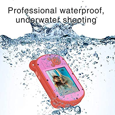 TOYSBBS Underwater Camera for Kids, 2.7 Inch HD 1080P Waterproof Kids Camera, Video Recorder Action Preschool Camera, 8X Digital Zoom Camera with Flash and Microphone Sticker,Pink: Sports & Outdoors