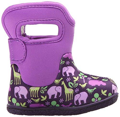 Bogs - botas Wellington con asa para tirar y cierre de velcro–Rosa/Multi–varias tallas disponibles Classic Animals Purple Multi