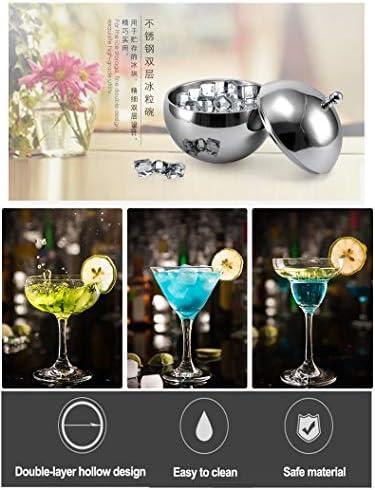 Nologo Startseite Salatschüssel Edelstahl-EIS-körnig Bowl Champagne Eiswürfel Bucket Cube Vorratsbehälter for KTV Bar Club Parteien Wein Beers