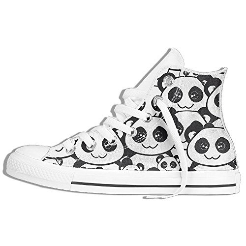 Classic High Top Sneakers Canvas Shoes Anti-Skid Best Pandas Casual Walking For Men Women White H0ISz