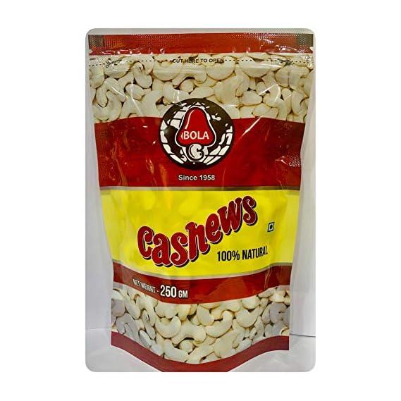 Bola-Premium Quality Cashew Nuts NW, 250 Grams
