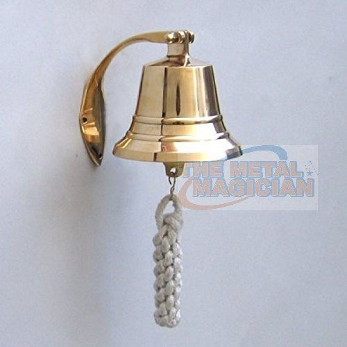 (The Metal Magician Solid Brass BellWall Mount, Brass Maritime Duty Watch Ship?s Bell 4