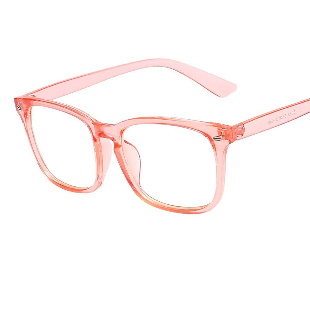Blue Light Blocking Glasses for Computer & Phone Use Anti Eyestrain Lens Square Frame Eyeglasses (H, 1pc)