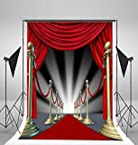 5x7ft LFEEY Vinyl Thin Backdrop Photography Background Luxurious Stage Light Red Carpet Scene Backdrop,1.5(W)x2.2(H)m for Photo Studio Props Reviews