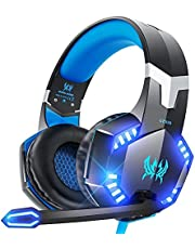 VersionTECH. Gaming Headset for PS4 / PS5 Xbox One PC, G2000 Gaming Headphones with Mic, LED Lights, Noise Reduction, Stereo Bass Surround for Laptop, Mac, Tablet, Mobile Games