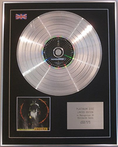 Platinum Wall Cross - ENIGMA - Limited Edition CD Platinum Disc - ENIGMA THE CROSS OF CHANGES