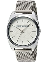 Steve Madden Womens Quartz and Alloy Casual Watch, Color:Silver-Toned (Model: SMW013)