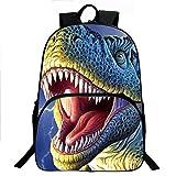 Enkman 3D Dinosaur Backpack, Lightweight, High Capacity Book Bag for Boys and Girls (C2)