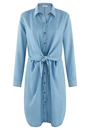Promod Robe Tencel Femme Jean Moyen 48  Amazon.fr  Vêtements et ... 12102f318a6c