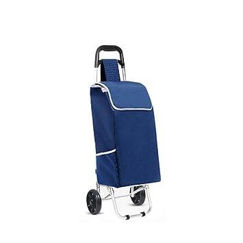 Carro de aluminio de compra de coches para comprar un coche portátil barra de palanca de remolque de equipaje pequeño carrito de tracción , blue: Amazon.es: ...