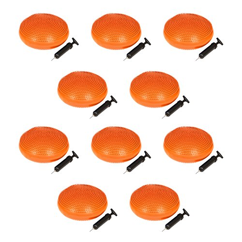 Trademark Innovations PVC Fitness and Balance Disc - 13-Inch Diameter - Set of 10 - (Pvc Disc)