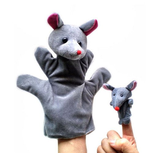 Diy Storybook Costumes For Boys (2Pcs (1 Big+1 Small) Lovely Kids Baby Plush Toys Finger Puppet Talking Props Animals Hand Puppets^mouse.)