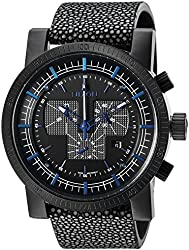 Nixon Men's 'Magnacon II' Swiss Quartz Stainless Steel and Leather Watch, Color:Black (Model: A4582136)