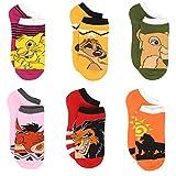 The Lion King Teen Womens 6 pack Socks (Big Kid/Adult)