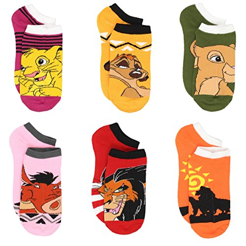 The Lion King Teen Womens 6 pack Socks (Big Kid/Adult)