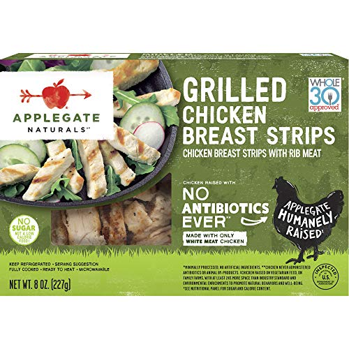 All Natural Grilled Chicken Strips - Applegate, Natural Grilled Chicken Breast Strips, 8 oz