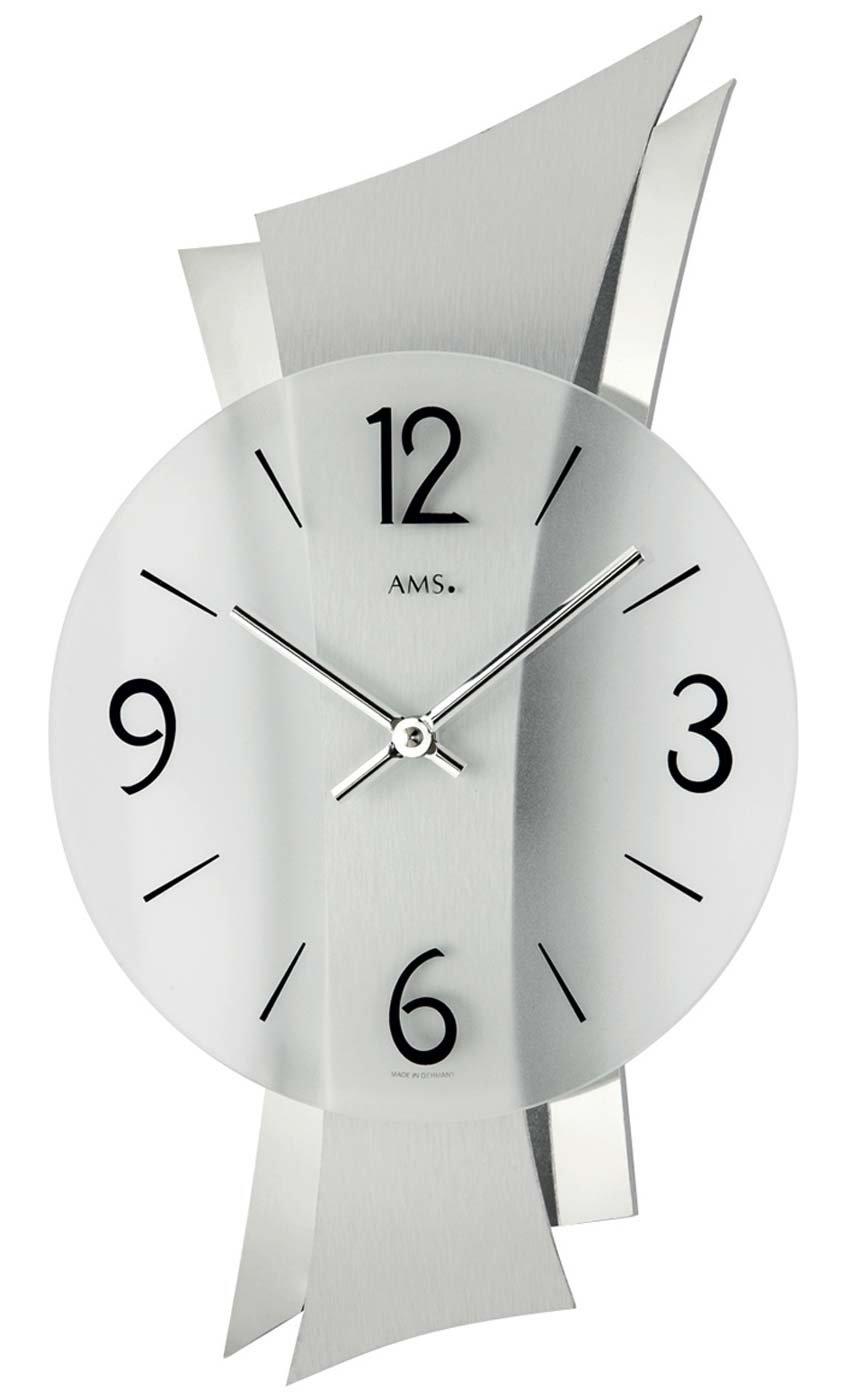 amazon.de: ams 9398 wanduhr glas modern - Wohnzimmer Uhren Modern