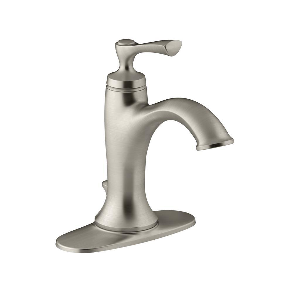 kohler elliston single handle bathroom faucet vibrant brushed rh amazon com kohler single hole bathroom faucet kohler single handle bathroom faucet dripping