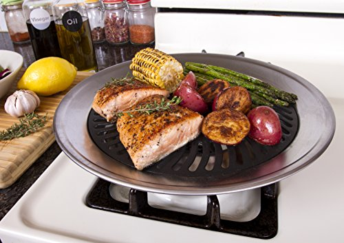 Kitchen + Stove Top Smokeless Grill Indoor BBQ,