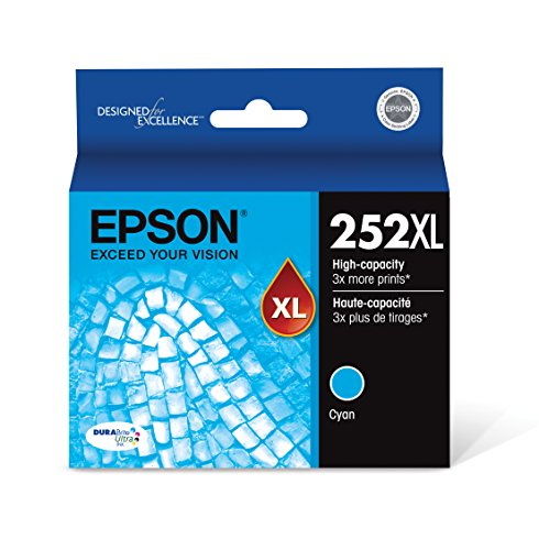 Epson T252XL220 DURABrite Ultra Cyan High Capacity Cartridge - Toner 3220 Capacity High