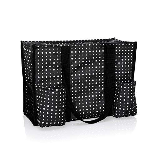 Thirty One Zip-Top Organizing Tote in Ditty Dot - No Monogram - 4451