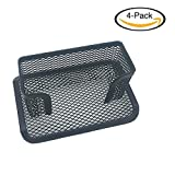 CGMJ 4 Pcs Desktop Mesh Business Card Holder Memo Holder for School Office Desk