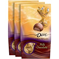 3-Pack Dove Milk Chocolate Truffles, Christmas Candy Gifts, 5.31 Ounce