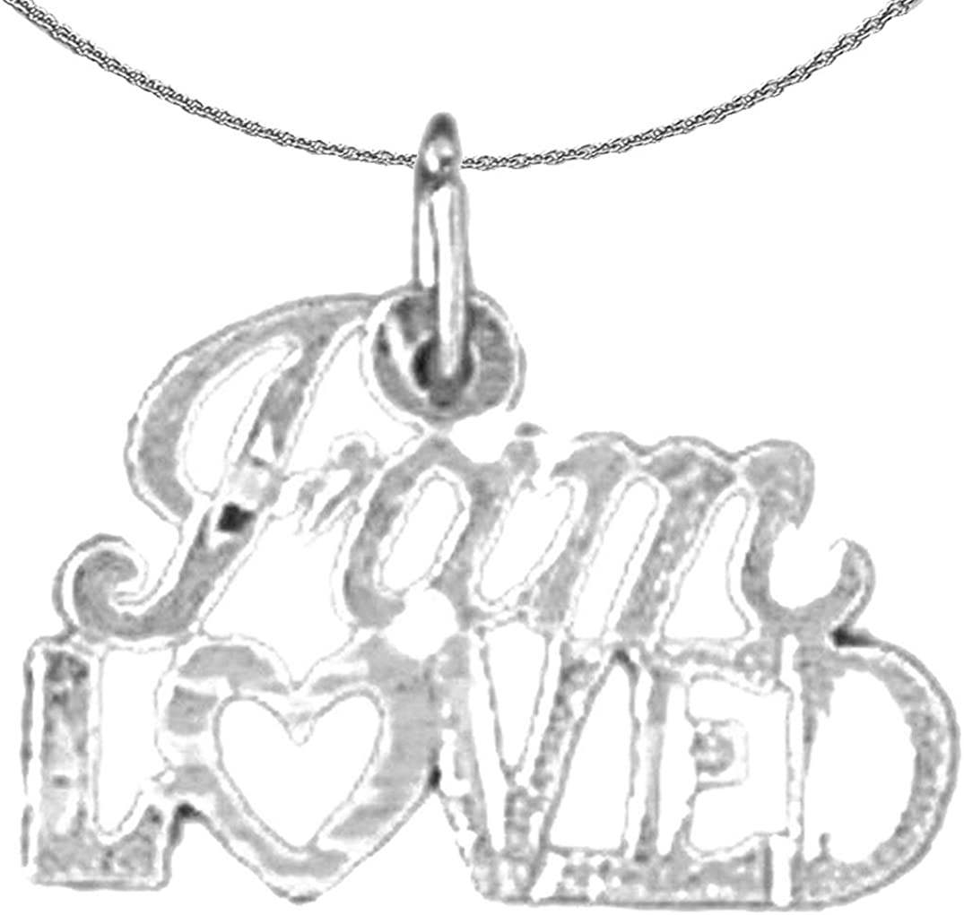 Jewels Obsession Silver Saying Necklace Rhodium-plated 925 Silver Special Lady Saying Pendant with 18 Necklace