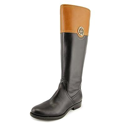 17b4e9b3e334 Tommy Hilfiger  quot Silvana 3 quot  Tall Riding Boots 7.5 M Black Brown