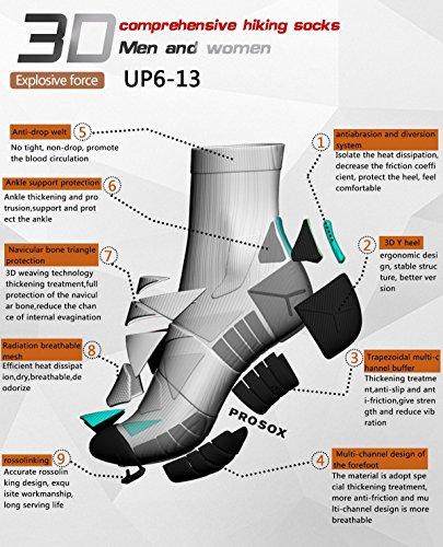 Hi-Performance Mens Compression Pro Sox- 3 Pack Premium Quarter Socks for Athletic Sports & Fitness