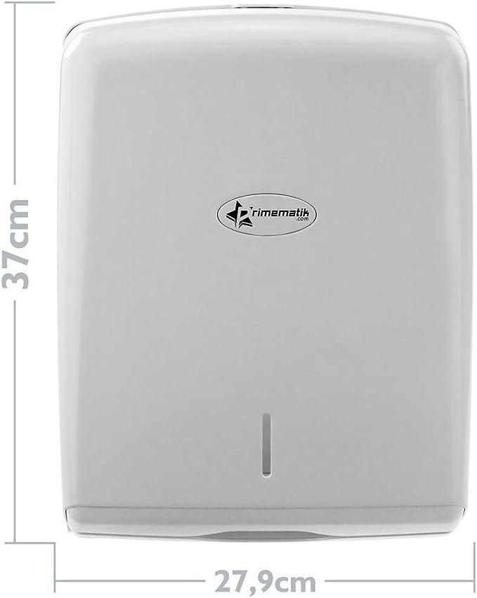 PrimeMatik 600 pcs paper towel dispenser white for bathroom