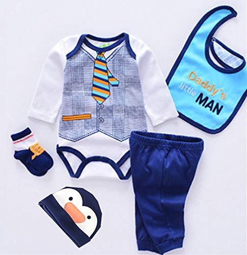 """NPKPINK Reborn Baby Boy Dolls Clothes Outfits for 20""""- 24"""" Reborn Doll Boy Baby Clothing Baby Sets"""