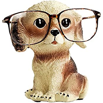 382e3e2c9 FLYING BALLOON Cute Dog Animals Shaped Resin Spectacles Holder Shelf Coin  Bank Home Decoration Best Gift