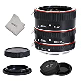 INSEESI Lens Extender Auto Focus Close up Macro Extension Tube for Canon EOS Cameras Rebel t6, t6i, 80d, t7i, 5d mark iv,6d mark ii