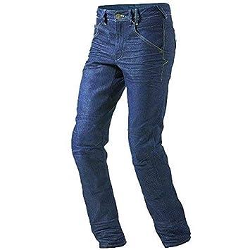 832cb9e477 JET Pantalon Moto Hombre Jeans Kevlar Aramid Con Armadura (54 Corto Cintura  38 quot