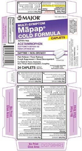 [3 PACK] MAPAP® MULTI-SYMPTOM COLD FORMULA CAPLETS 24CT (PACK OF 3 =72CT) *COMPARE TO THE SAME ACTIVE INGREDIENTS FOUND IN TYLENOL® COLD MULTI-SYMPTOM DAYTIME CAPLETS & SAVE!*