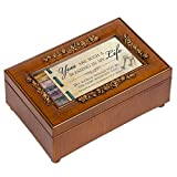You are Such a Blessing in My Life Rich Walnut Finish Petite Jewelry Music Box - Plays Amazing Grace