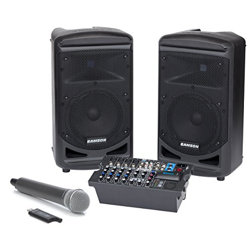 Samson Expedition XP800w 800-Watt Portable PA System with Wireless Handheld Microphone by Samson Technologies