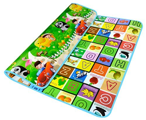 For Sale! Garwarm 71*59inches Extra Large Baby Crawling Mat Playmat Foam Blanket Rug for In/Out Door...