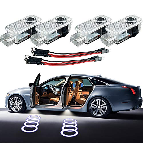 LED Door LOGO projector,Homose Car Courtesy LED Light Shadow Welcome Lamp for Audi A1 A3 A4 A5 A6 A7 A8 Q Q5 Q7 R8 TT series Courtesy Light (Pack of ()