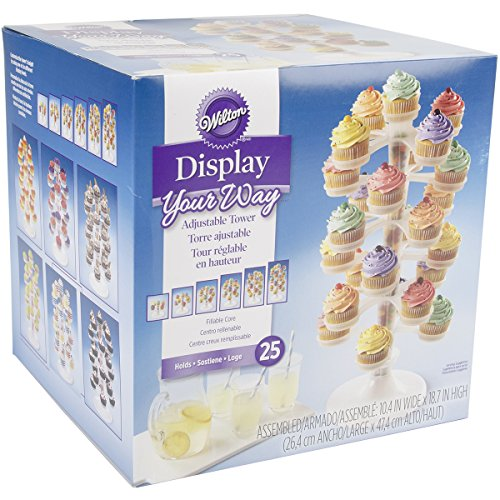 Where to find display your way adjustable cupcake tower?