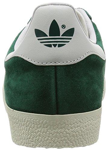 adidas Unisex-Erwachsene Gazelle Sneakers, Grün (Collegiate Green/Vintage White/Gold Met.), 40